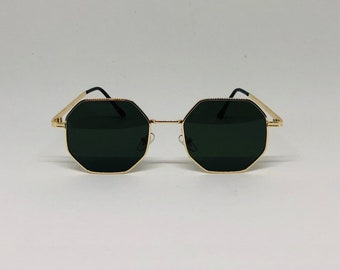 ac136684fc Hexagon sunglasses | Etsy