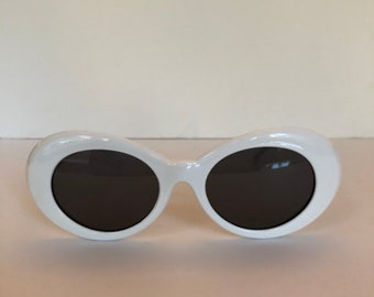 e2efde50c1 Clout white with black lens goggle sunglasses