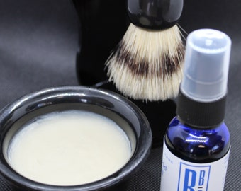 Mens Shaving Kit, Mens Grooming Gift Set, All Natural Mens Face Care, Stand Brush Bowl Soap Oil, Mens Gift Ideas, Father's Day Gift