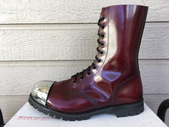 RARE Maine 1490 Exposed Steel Toe Cap Dr Martens 10 Eye Doc