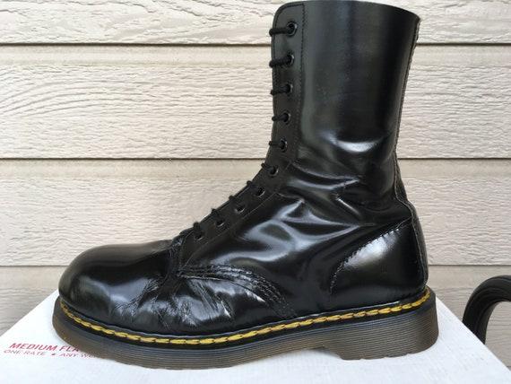 Yohji Yamamoto POUR HOMME Dr.Martens 10 EYE Boots Black UK10