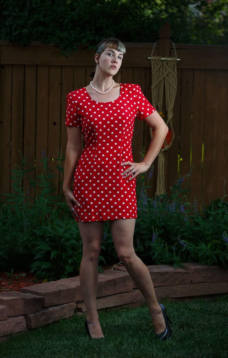60c45eb4bdb My Michelle Polka Dot Women s Dress Size 9 10 Minnie Mouse