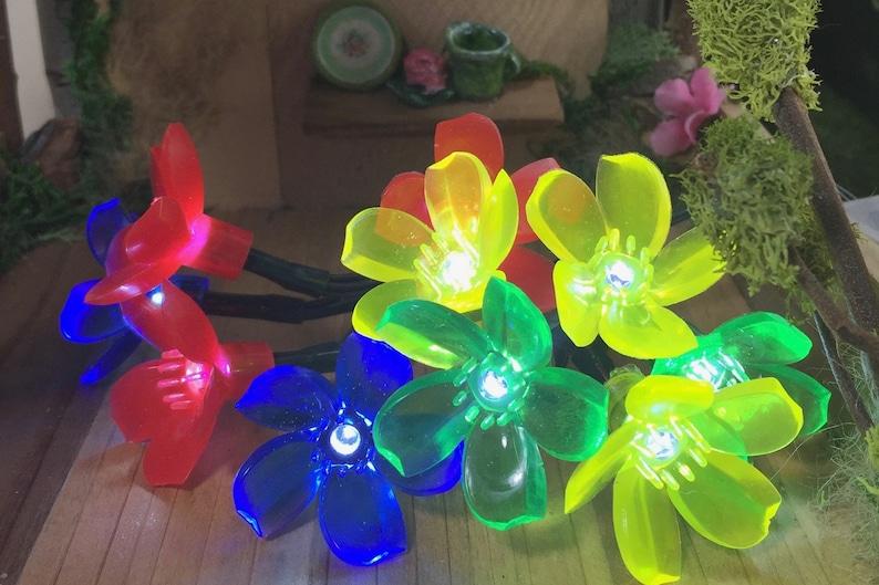 Dollhouse Lights LED Lights String of 10 Flower Lights Fairy House Lights Battery