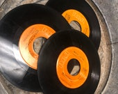 Lot of THREE - RCA Records - 45 39 s Small Mini Record - Collectible Vintage - Authentic - Elvis Presley -
