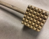 Vintage - Solid Wood Meat Tenderizer - Kitchen Mallet Tool - Wooden Primitive Home Decor - Hammer Beater - Collectible Country Style
