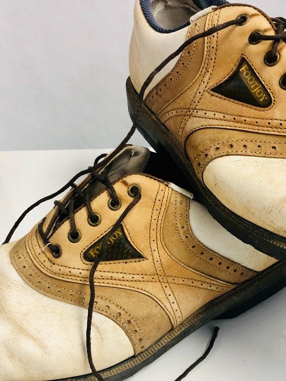 SALE Vintage Golf Shoes Saddle Style