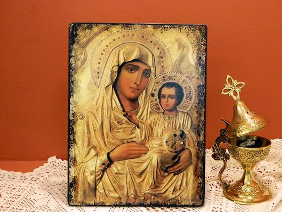 Y Virgen A De NiñoJerusalénIcono CumpleañosBoda El ManoReligiosoOrtodoxo GriegoRegalo BizantinoHecho 0PnOXZN8wk
