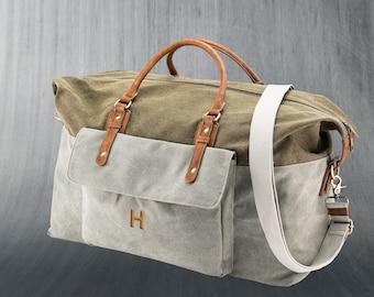 a96638c345dd Weekender Bag – Canvas Travel Bag – Groomsman Gift – Best Man Gift - Gifts  for Him – Men s Luggage – Destination Wedding - Groom Gift
