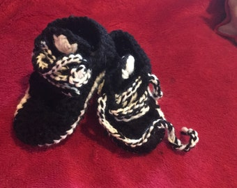 Adidas inspired baby shoes - sneakers - booties made with love by Tattyarna.