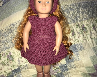 Mauve dress and headband