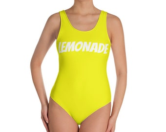 One Piece Swimsuit Lemonade