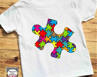 Puzzle Piece Autism Awareness Sublimation Transfer ST-PAA01