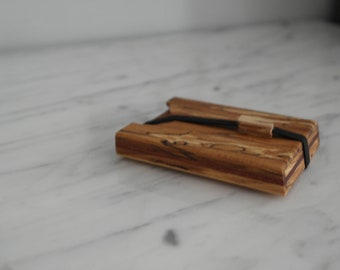 Beech Wood Wallet, Business Card Case, Wooden Wallet, Minimalist Wallet, Graduation Gift, Office Gift, Credit Card Holder