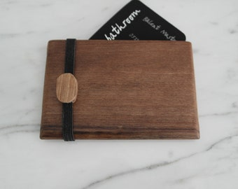 Oak Wood Wallet, Business Card Case, Wooden Wallet, Minimalist Wallet, Graduation Gift, Office Gift, Credit Card Holder