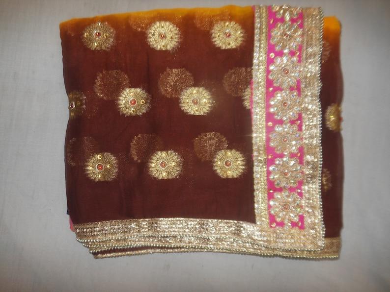 d8c188c44f2f62 Indian New Designer Handmade Leight Weight Chiffon Stone Work | Etsy