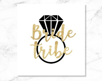 1e9606f8f7 Bride tribe stickers | Etsy