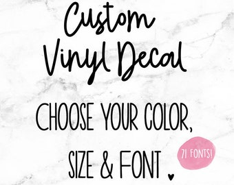 Custom Vinyl Decal Etsy