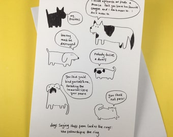 Dogs saying stuff from Lord of the Rings (greetings card)