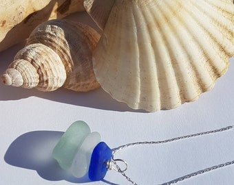 Genuine Seaglass / Beach glass pendant necklace