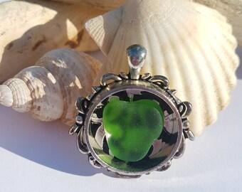 Genuine Seaglass / Beach Glass  Pendant