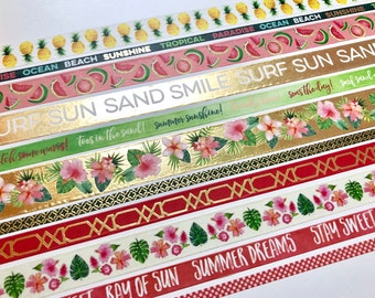 """Tropical Washi by Recollections 24"""" Sample"""