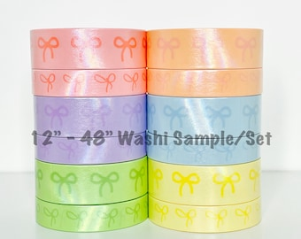 Simply Gilded Rainbow Foil Heart /& Bow Simple Bow Line 12-48 SampleSet Washi Sample 221