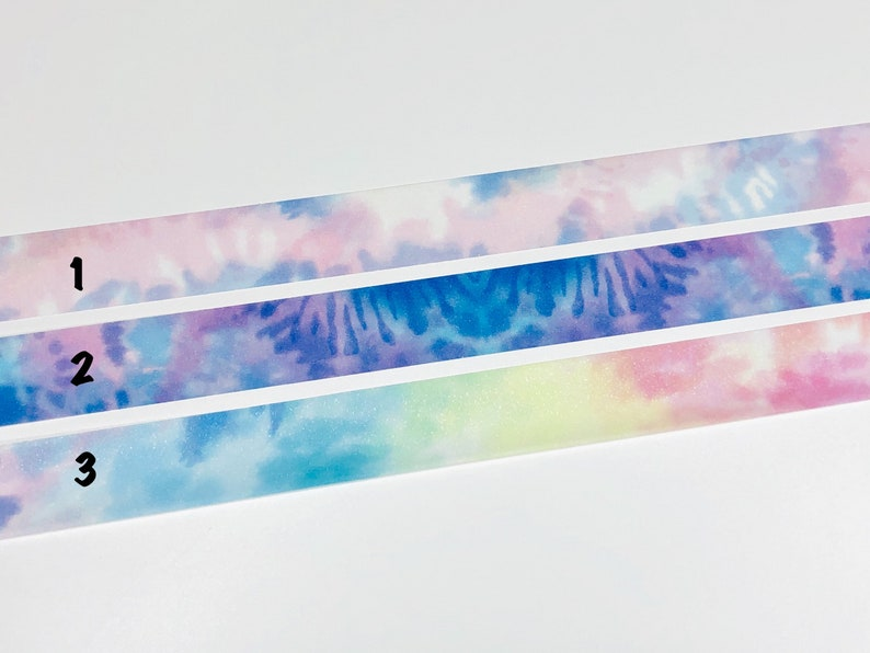 Washi Sample 620 Simply Gilded Tie Dye Glitter Overlay Washi Berry Sweet Rainbow Whisper 12-48 SampleSet