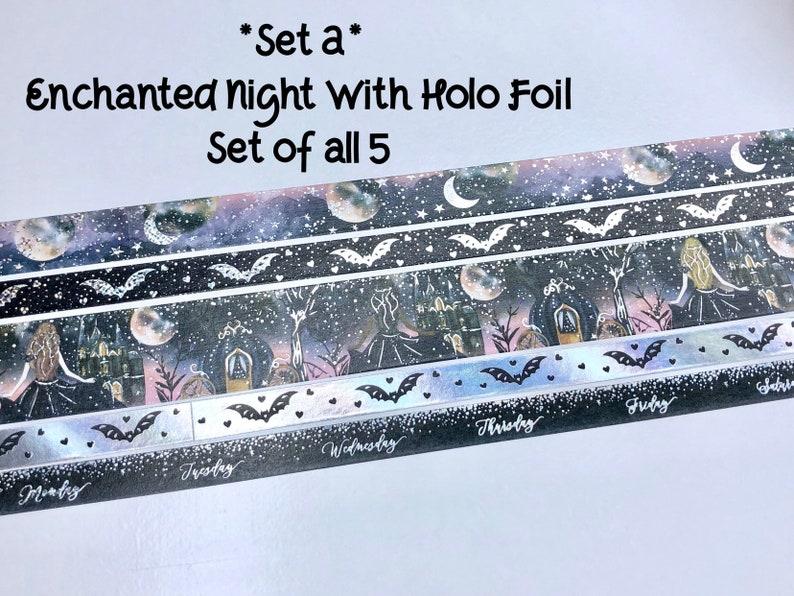 Limited Quantites 12-24 Sample Set Bloomsical Enchanted Night Washi