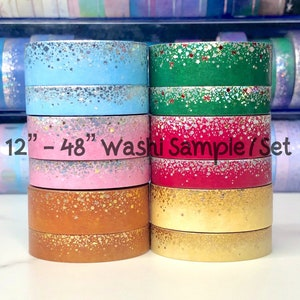 Washi Tape Sample Gingerbread /& Sandalwood Simply Gilded Stardust in Shades of Peach