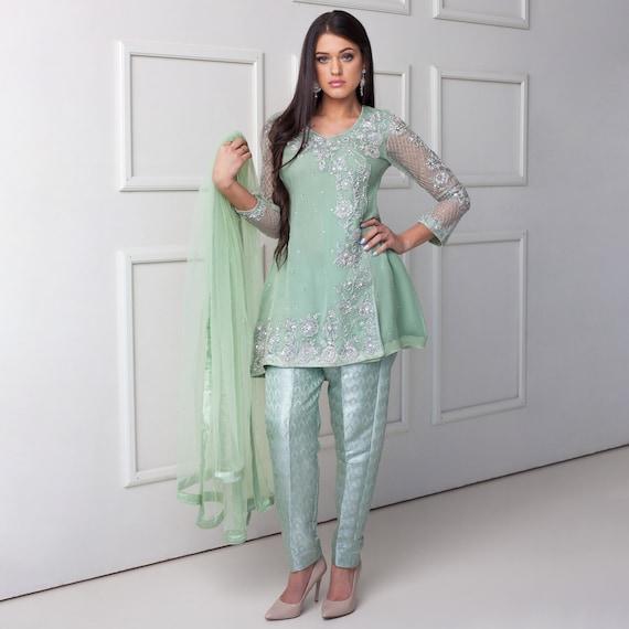 Apple Blossoms Pakistaanse kleding Kleding Fashion Woman Designer Party Formele Luxe Pret Indiase Pakistan Lengha Gharara Saree Shalwar Kameez