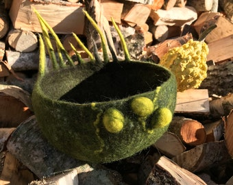 Felted bowl - Home decor - Nature inspired