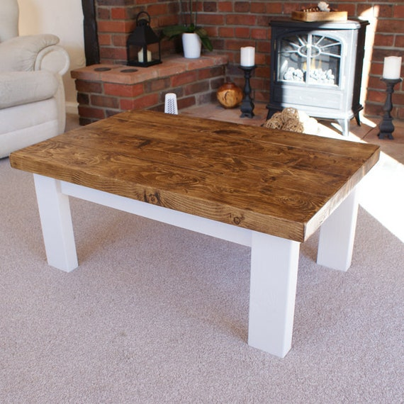 Cottage Style Coffee Tables Handmade Solid Wood Rustic Etsy