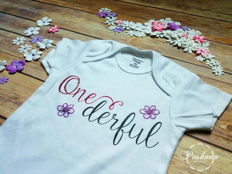 Unique Onesie Onederful Birthday First Birthday 1st Birthday Birthday Outfit One Year Old Cute Onesie Personalized Onesie Onederful