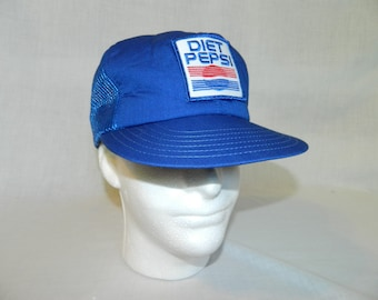 Vintage 90s Diet Pepsi Patch Snapback Trucker Hat Baseball Cap Blue UNUSED  Cola Soda Vicotry Caps 410864863e99