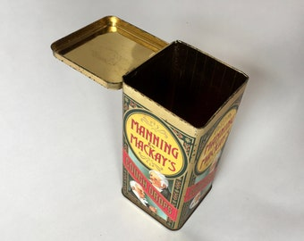 Manning and Mackay's Cough Drops Tin. Vintage kitchenware tin.