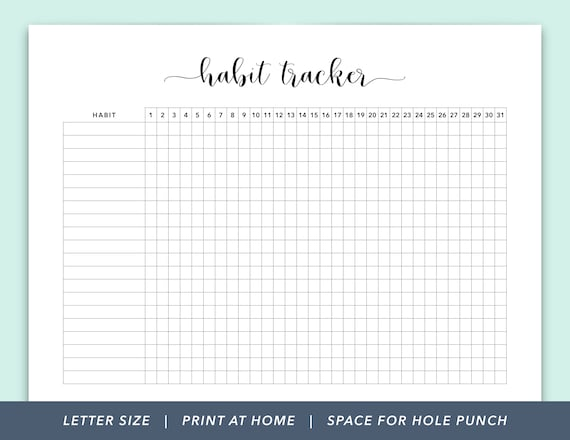 graphic about Daily Habit Tracker Printable named Practice Tracker Printable, Routine Monitoring, Pattern Printable, Everyday Behavior Tracker, Month-to-month Pattern Tracker, Practice Tracker PDF
