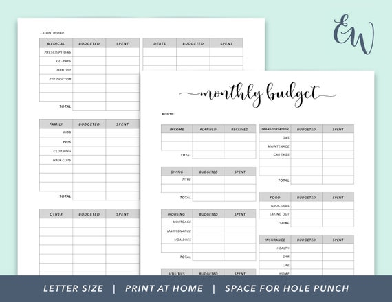 graphic about Printable Budget Binder named Month to month Finances Printable, Finances Planner, Funds Binder, Finance Printable, Funds Coming up with, Finances Monitoring, House Finances