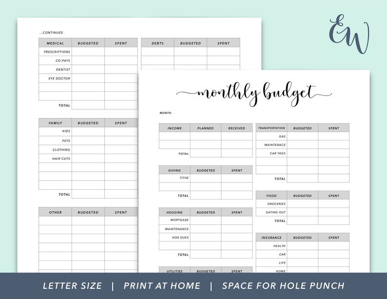picture relating to Printable Budget Binder named Every month Spending plan Printable, Funds Planner, Funds Binder, Finance Printable, Finances Designing, Spending budget Monitoring, Family members Funds