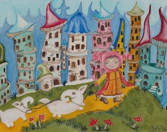 A Wonderful Dream - Original Oil Painting
