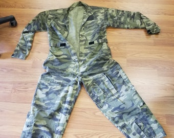 9f87404dee39d French Military Camo Summer weight Coveralls Size Small , Vintage coveralls  , vintage french coveralls