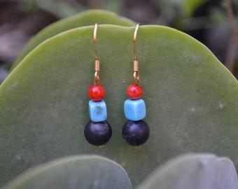 Minimalist Beaded Earrings