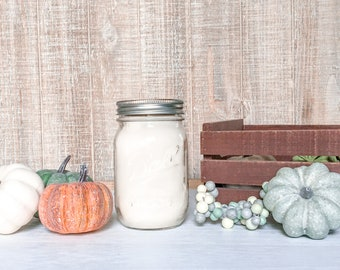 Pumpkin Patch Soy Candle - Scented Candle - Farmhouse Home Decor - Soy Wax - Mason Jar Candle - Vintage Jar - Glass Jar