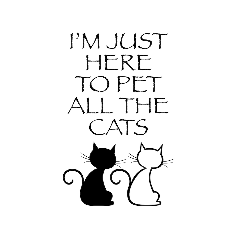 Pet All The Cats Clipart Cat Mom Digital Clipart T-shirts image 0