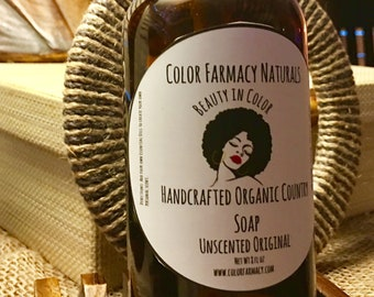 Hand Crafted Organic Country Liquid Soap -Body Wash -  Farmacy Soap - Color Farmacy