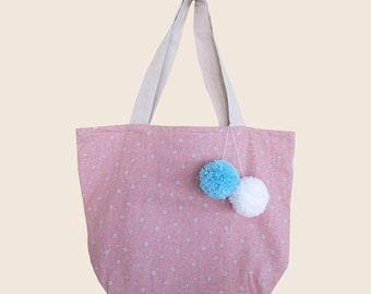 Handmade Floral Pattern Pink Shoulder Bag