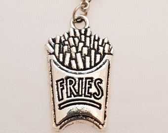 Fries silver planner charm