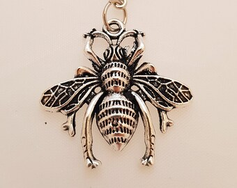 Bee silver planner charm