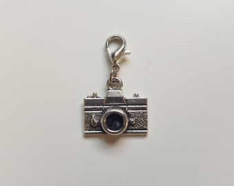 Camera silver planner charm