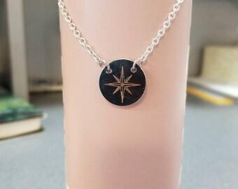 Compass necklace - wanderlust - adventure - travel gift - graduation gift - inspiration jewelry
