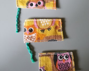 Reusable tampons  yellow Owl 3 pack light-moderate-heavy